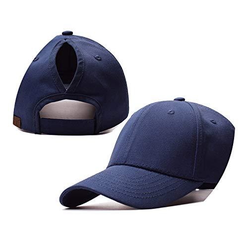 野球帽のキャップンスタイルのオープンポニーテールキャップ カスタマイズ 帽子,ネイビー,