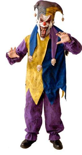 Amazon.com: Scary Evil Court Jester Halloween Costume: Clothing