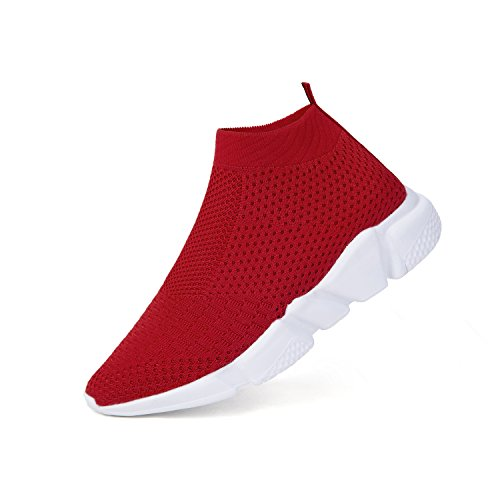 WXQ Women's Running Lightweight Breathable Casual Sports Shoes Fashion Sneakers Walking Shoes Red 40 ()