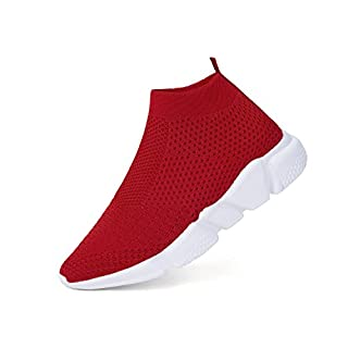 WXQ Men's Running Lightweight Breathable Casual Sports Shoes Fashion Sneakers Walking Shoes Red 45