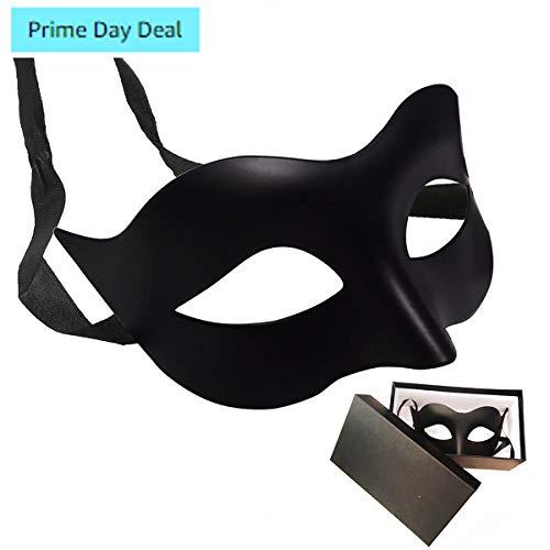 IDOXE Black Masquerade Masks Cool Men Fighter Masquerade