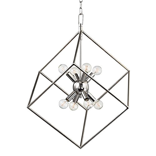 Roundout 8-Light Pendant - Polished Nickel Finish - Hudson Valley Metallics