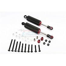 HPI Crawler King / Gmade R1 / Vaterra K5 Upgrade Parts Aluminum Front/Rear Internal Shocks With Engraving (90mm) - 1Pr Set Black