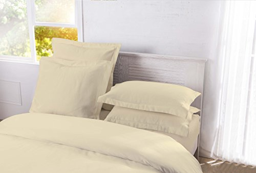 Standard Sham Matelasse - DreamSpace Quilted Pillow Shams Diamond Pattern Matelasse Tailored (2 Pack), Standard, Ivory