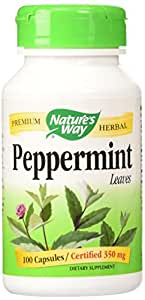 Peppermint Leaves 100 Capsules/Certified 350mg