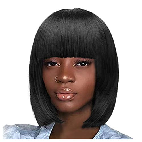 Inkach Clearance Short Straight Wigs | Inkach Black