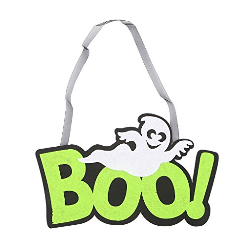 Forgun Halloween BOO Ghost Hanging Sign Home Wall Decoration Props Indoor And Outdoor ()