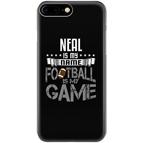 NEAL My First Name Football My Game for Fan Player - Phone Case Fits iPhone 6S+ Black - Neal Ball