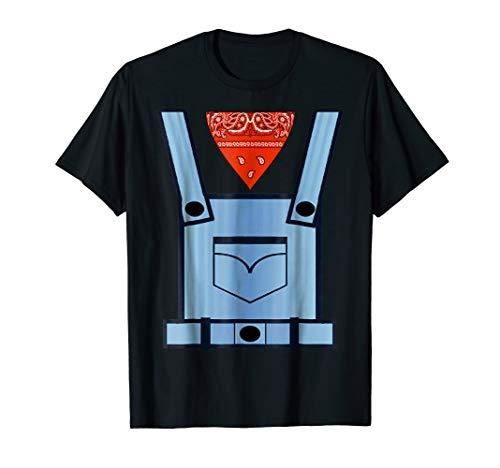 Farmer Bib Overall Cowboy Bandana Printed Costume T-Shirt ()