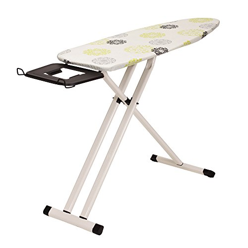 Household Essentials 889000-1 Afer Perfect Steel Top Ironing Board | Rolling Board | Wide Top with Aluminum Legs by Household Essentials