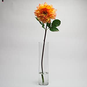 Richland Silk Dahlia Artificial Flower 34″ Orange