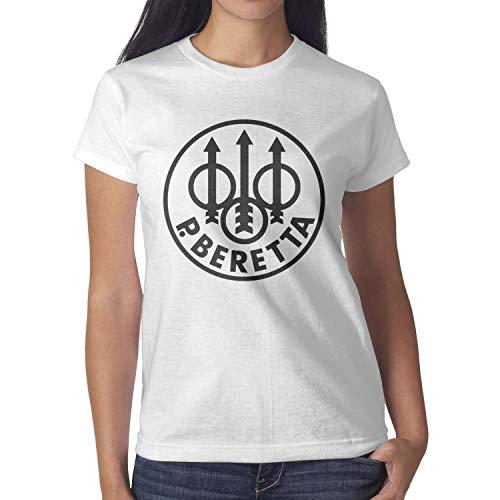 R&B Womens Classic-Beretta-Cool-Symbol-Short Hard Rock T-Shirt Creative