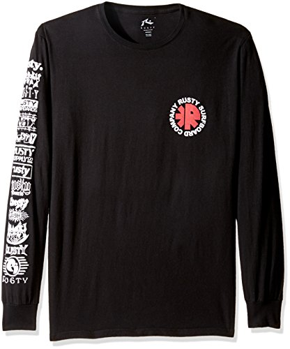 rusty-mens-whirlpool-long-sleeve-tee-black-large