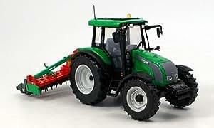 Valtra C, verde + implementos agrícolas, Modelo de Auto, modello completo, UH 1:32