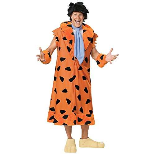 Flintstones Feet Costume - GSG Fred Flintstone Costume Adult Mens The Flintstones Halloween Fancy Dress