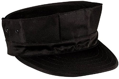 Fatigue Style Hat - Black Military Style Usmc Marines & Navy 8 Point Patrol Fatigue Hat Cap