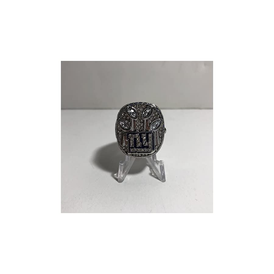 Eli Manning #10 New York Giants NY High Quality Replica 2011 Super Bowl SB XLVI Ring Size 10.5 Silver Color US SHIPPING