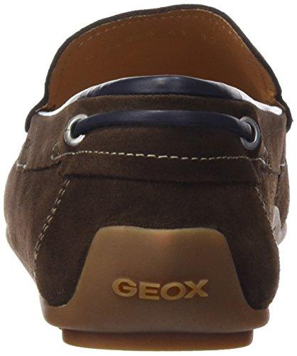Geox U Giona a, Mocasines Para Hombre Marrón (Cigar)