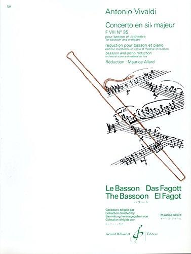 Vivaldi: Bassoon Concerto in B-flat Major, RV 503, F. VIII 35 (Solo Part with Piano Reduction)