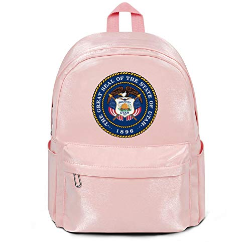 NALINA Travel Laptop Pink Backpack for Womens Men The Great Seal of The State of Utah Cool North Face Backpack