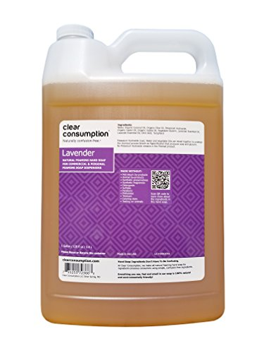 One Gallon Refill - 1 Gallon Lavender Clear Consumption Natural Foaming Hand Soap Refill - For Commercial & Personal Foaming Soap Dispensers