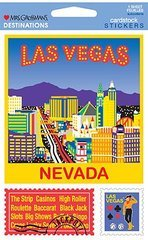 Las Vegas Destinations Cardstock Scrapbook Stickers (31369)
