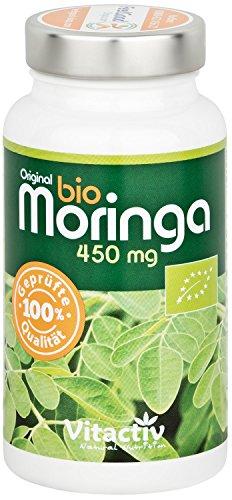 EUROPAS Nr 1, Moringa 450mg Bio, das Nährstoffwunder in einer Kapsel, perfekte Zusammensetzung aller wichigen Nährstoffe, hochdosiertes Bio Moringa Oleifera, 90 Kapseln (3 Monatspack)