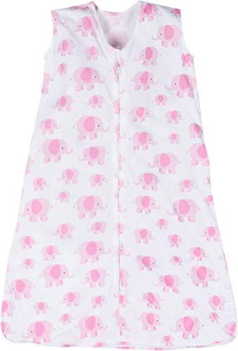 Miracle Blanket Sleeper Wearable Blanket Sack, Pink Elephant, Large (18-24 Months)