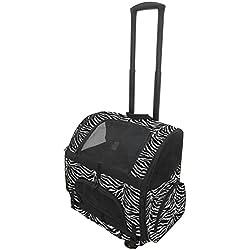 Gen7Pets Roller-Carrier Backpack with Smart-Level (Zebra, Large)