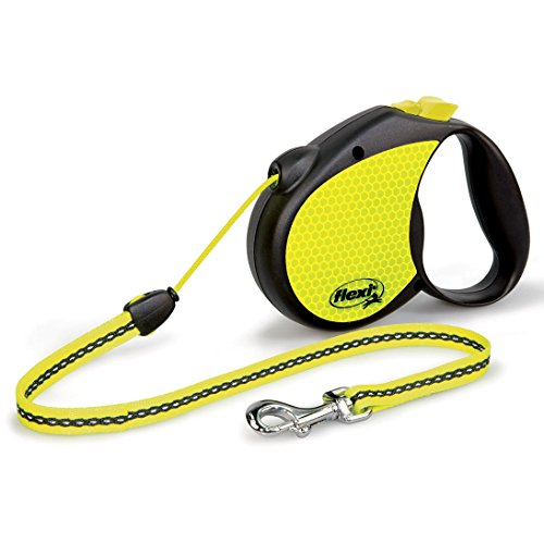 Bogdahn International Flexi Neon Reflect Retractable Cord Dog Leash (Small) (Neon) - 2 Retractable Cord Leash