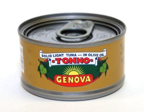 Genova - Italian Solid Light Tuna in Pure Olive Oil, (3) - 3 oz Cans by Genova (Tuna Genova)
