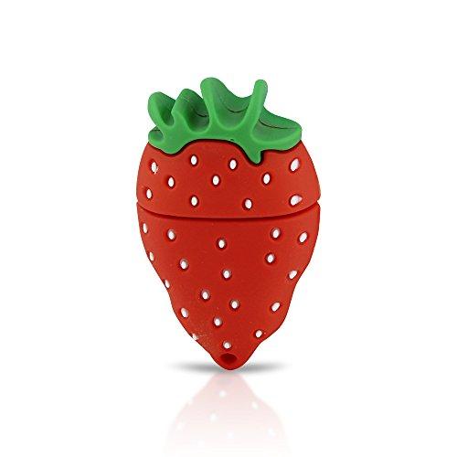 (Funnyusb Character USB Flash Drive USB 3.0 16GB Cartoon Strawberry Shape USB High Speed Flash Disk Pen Drive Disk Memory Stick)