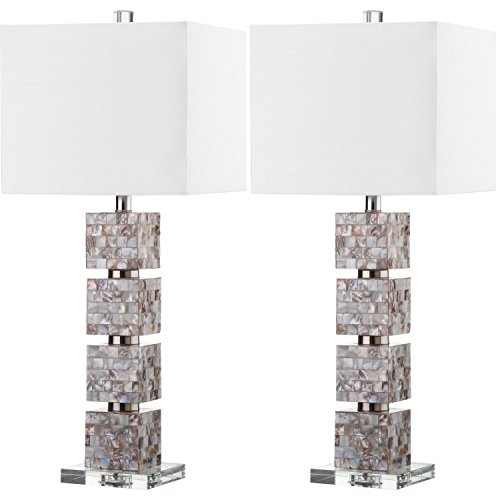 Safavieh Lighting Collection Rafferty Cream 30.5-inch Table Lamp (Set of 2)