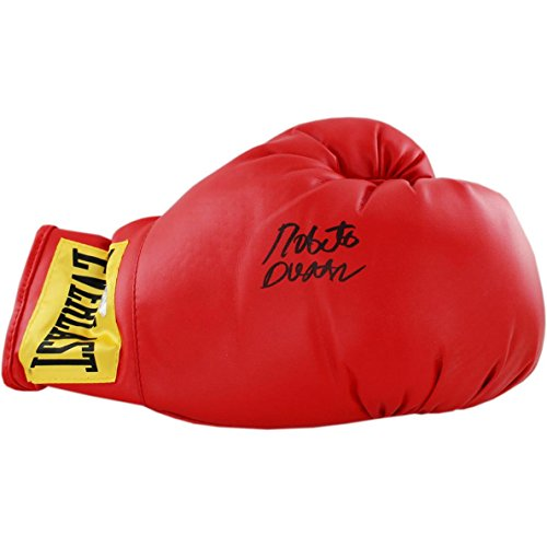 Steiner Sports Roberto Duran Signed Boxing Gloves, Red