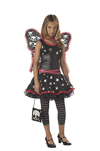 Punk Rock Skull And Stars Fairy Tween Child Costume