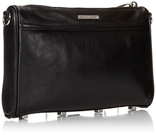 Rebecca Mac Bag Minkoff Body Silver Cross Mini Black Hardware q161a