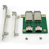 CableDeconn Dual Mini SAS SFF-8088 To SAS36P SFF-8087 Adapter In PCI bracket