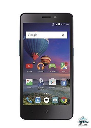 ZTE Midnight Pro 4 LTE Black SIMPLE MOBILE with 8GB Memory Prepaid Cell Phone Smartphone (Posh Cell Phone Unlocked)