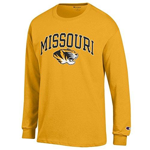 - Elite Fan Missouri Tigers Men's Long Sleeve Arch Tee, Gold, Medium