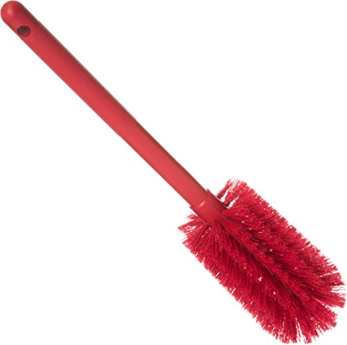 Carlisle 40001C05 Commercial Bottle Brush, Polyester Bristles, 16'' Length, Red (Pack of 6) by Carlisle (Image #1)