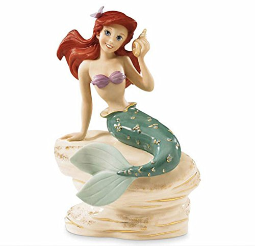 Lenox Disney Princess Ariel Figurine The Little Mermaid On Rock ()