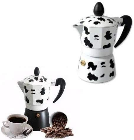 TrAdE Shop Traesio Cafetera 3 Tazas Moka Vaca Express Mukka Caffe Espresso 3 Tazas café: Amazon.es: Hogar
