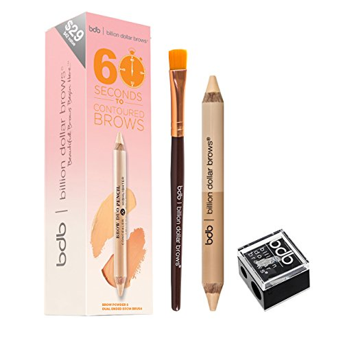 Billion Dollar Brows Kit, 60 Seconds To Contoured, 1 Count