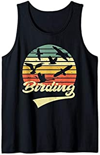 Birding Birdwatching Vintage Retro  Bird Watcher gift Tank Top T-shirt | Size S - 5XL