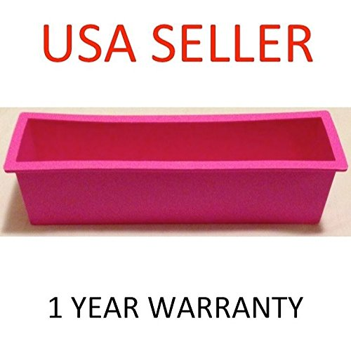 1.2L Rectangle Loaf Toast Bread Pastry Cake Soap Silicone Mold - 6