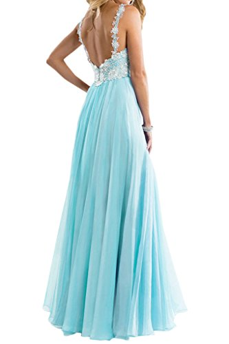 Bride Straps Lace Formal A Light Prom Line Blue Long 2016 Dress Angel Spaghetti Fitted Dress 4qdfHH