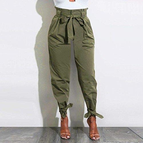 Fashion Pants Stoffa Semplice Streetwear Libero Pantalone Di Cintura Inclusa Armeegr Puro Elegante Tendenza Colore Donna Lunghi Pantaloni Estivi Glamorous Tempo Trousers Swag wwTq4U