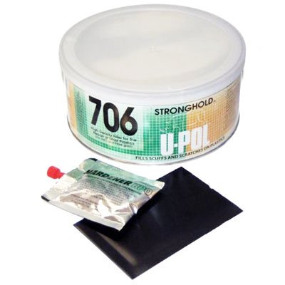 Hard Plastic Repair - U-POL STRONGHOLD 706 Smooth Hig Adhesion Body Filler for Plastics