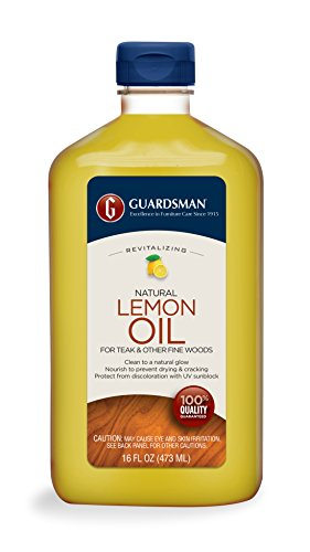 Guardsman Revitalizing Lemon Oil For Wood Furniture – 16 oz- UV protection, Cleans, Restores and Protects – 461700