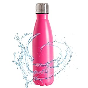 SHAREWIN Cold Double Walled Stainless Steel Water Bottle丨Vacuum Insulated Water Bottles 12oz(350ml)丨Cola Shape Travel Water Bottle丨Keeps Your Drink Hot & Cold